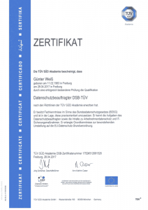 DSB-TUEV-Zertifikat-Guenter-Weiss